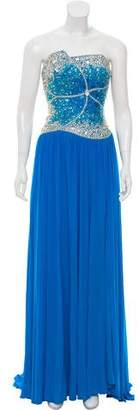 Terani Couture Embellished Empire Evening Gown w/ Tags
