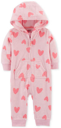 Carter's Baby Girls 1-Pc. Heart-Print Coverall
