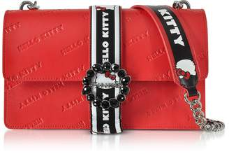Pinko Love Hello Kitty Red Printed Eco Leather Shoulder Bag