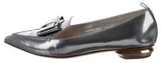Nicholas Kirkwood Metallic Pointed-Toe Flats