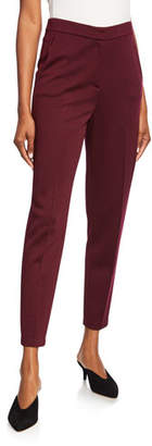 St. John Milano Knit Ankle Slim Pants with Pockets