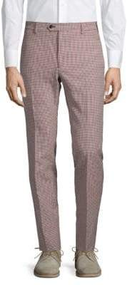 Valentino Slim-Fit Plaid Wool Pants