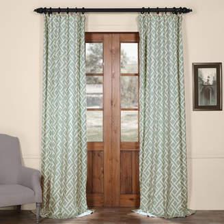 Langley Street Berumen Geometric Room Darkening Rod Pocket Single Curtain Panel