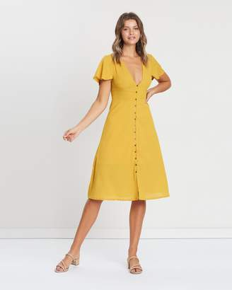 Atmos & Here ICONIC EXCLUSIVE - Melody Button Through Midi Dress