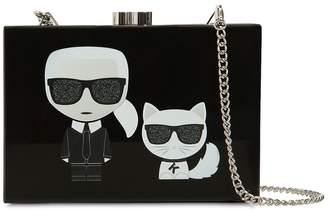 Karl Lagerfeld & Choupette Box Clutch