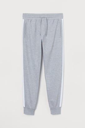 H&M Joggers with Side Stripes - Gray