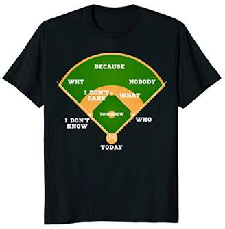 Who's on First? Baseball Diamond Fielding Card T Shirt