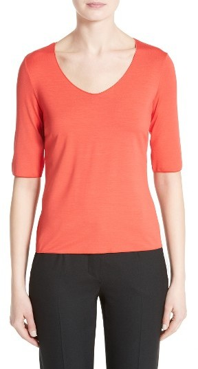 Women's Armani Collezioni Stretch Jersey Top
