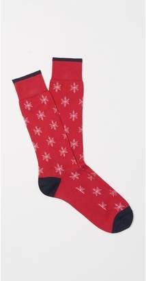 J.Mclaughlin Men's Snowflake Socks