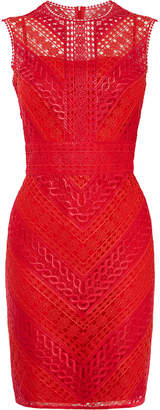 Karen Millen Embroidered Lace Mini Dress