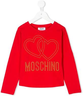 Moschino Kids heart logo top