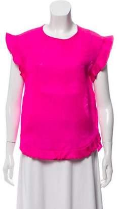 Isabel Marant Ruffle-Trimmed Short Sleeve Top