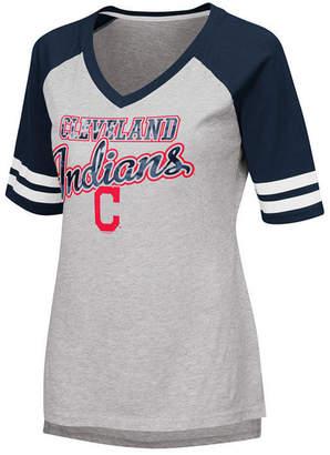 G-iii Sports Women Cleveland Indians Goal Line Raglan T-Shirt