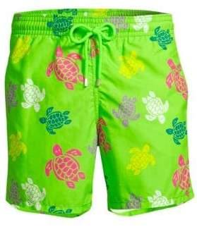 Vilebrequin Multicolor Turtles Swim Trunks