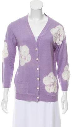 Samantha Sung Tie-Dye Printed Button-Up Cardigan