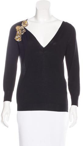 Louis VuittonLouis Vuitton Wool V-Neck Sweater