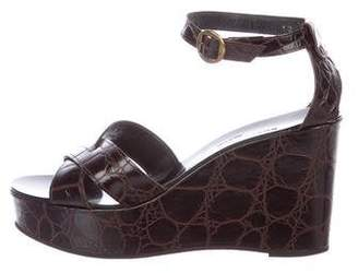 Robert Clergerie Clergerie Paris Embossed Wedge Sandals