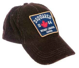 DSQUARED2 Corduroy Embroidered Cap