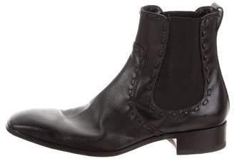 Saint Laurent Square-Toe Chelsea Boots