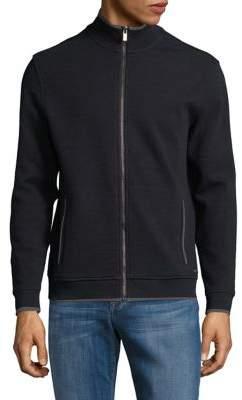 Black & Brown Black Brown Contrast Mockneck Jacket