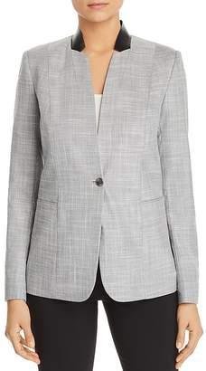T Tahari Adara One-Button Blazer