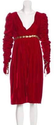 Dolce & Gabbana Long Sleeve Knee-Length Dress