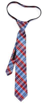 Nordstrom Plaid Silk Zip Tie
