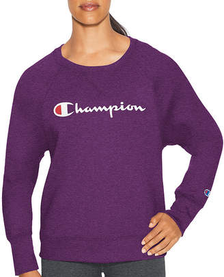 Champion Fleece Crew Graphic Long Sleeve Sweatshirt