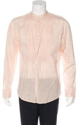 Paul Smith Printed Pleated Shirt