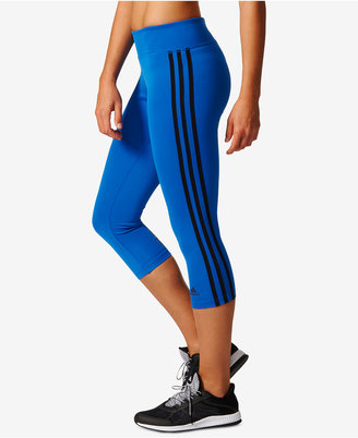 adidas D2M Three Stripes Climalite® Cropped Leggings $45 thestylecure.com