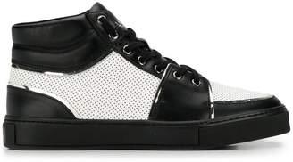 Balmain perforated hi-top sneakers