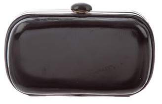 Bottega Veneta Patent Leather Clutch Bag Black Patent Leather Clutch Bag