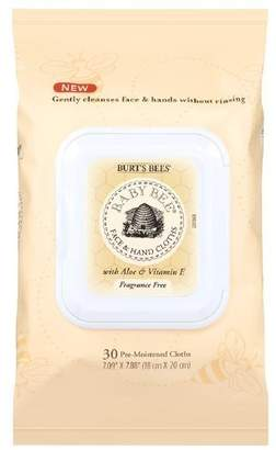 Burt's Bees Baby Bee Face & Hand Cloths, Fragrance Free 30 ea (Pack of 2) by