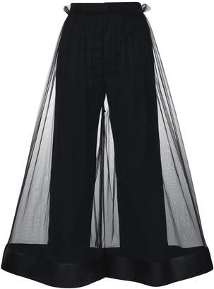 Comme des Garcons flared sheer trousers