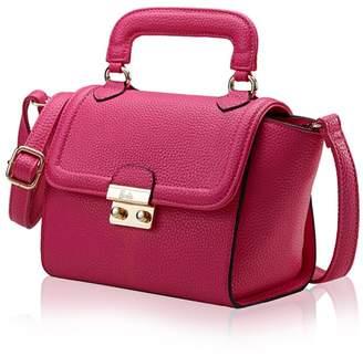 Barbie Women Elegant PU Leather Wider-handles Girls Shoulder&Cross-body Bag Hand Bag Shopping Bag Date Bag #BBFB146.01A