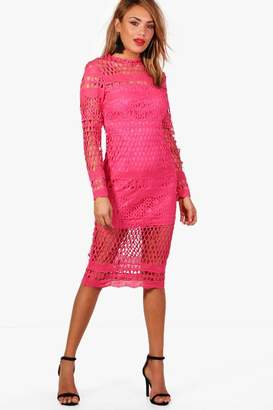 boohoo Boutique Lace Midi Dress