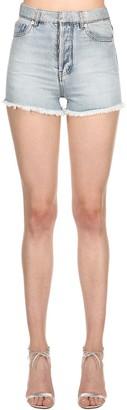 Alexandre Vauthier Lvr Edition Hologram Waist Denim Shorts