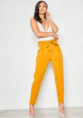 cc6c1a3d58af Missy Empire Missyempire Avril Yellow White Stripe Paperbag Trousers