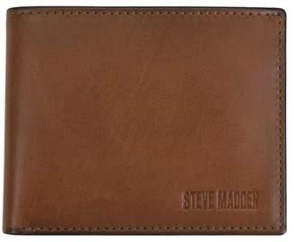 Steve Madden Burnished Leather Billfold Wallet