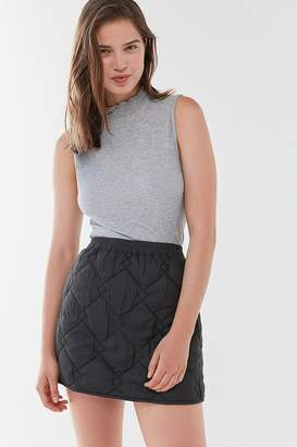 Urban Outfitters Ridley Quilted Mini Skirt