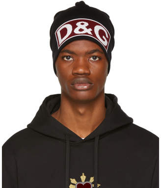 Dolce & Gabbana Black Logo Beanie