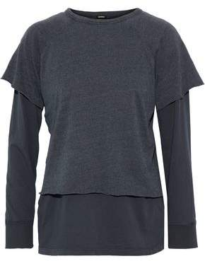 Monrow Layered Jersey Terry Top