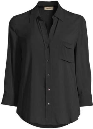 ec678158e Black Three Quarter Length Sleeve Fitted Top - ShopStyle UK