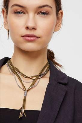 Gilded Chain Bolo Necklace