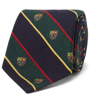 Polo Ralph Lauren 8cm Madison Embroidered Striped Wool And Silk-Blend Tie