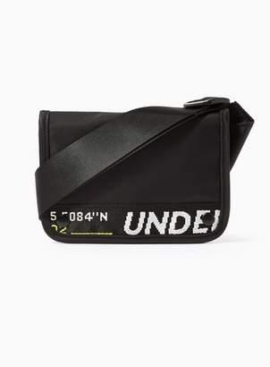555cb57d72bb Topman Mens Black Mini Text Cross Body Bag
