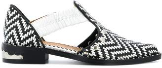 Toga Pulla woven cut out loafers