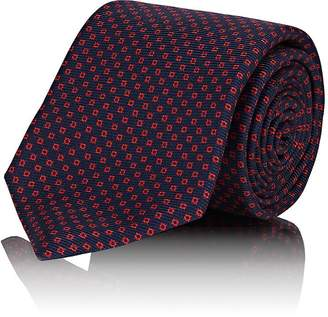 Kiton Men's Red Dot Silk Faille Necktie