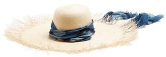 Filù Hats Filu Hats - Bali Buntal Wide Brimmed Straw Hat - Womens - Blue