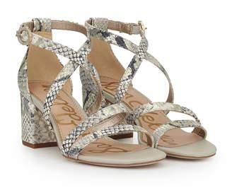 910c0ddae7f Sam Edelman White Block Heel Women s Sandals - ShopStyle